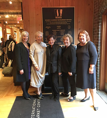 As a fairly new member, 2018, of WithIt (Women in the Home Furnishings Industry Today), this moment was deeply memorable as I watched these strong, smart trailblazers receive a plaque that sits in Market Square. #HonoredToBeAMemeber  withit.org