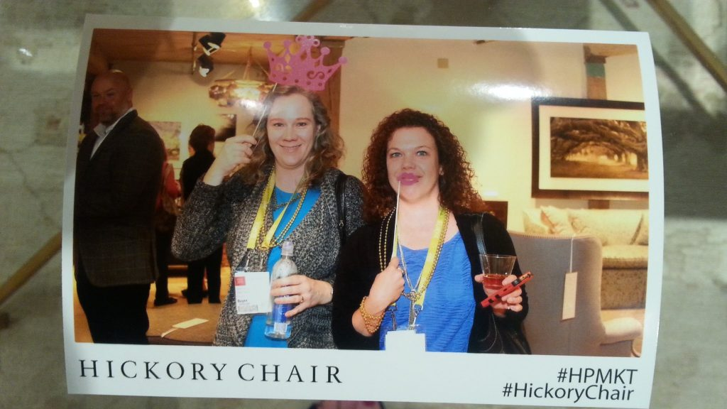Heather Pendrak, owner of Pendragon 3D Arts, and I at Hickory Chairs\' bash.
