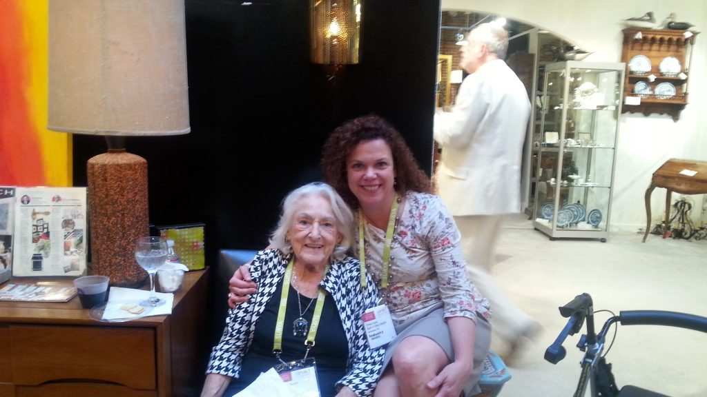 My absolute favorite person at Market, Carleen DeLoach. Matriarch of the DeLoach mid-mod furniture company. Her storytelling ability is captivating; I