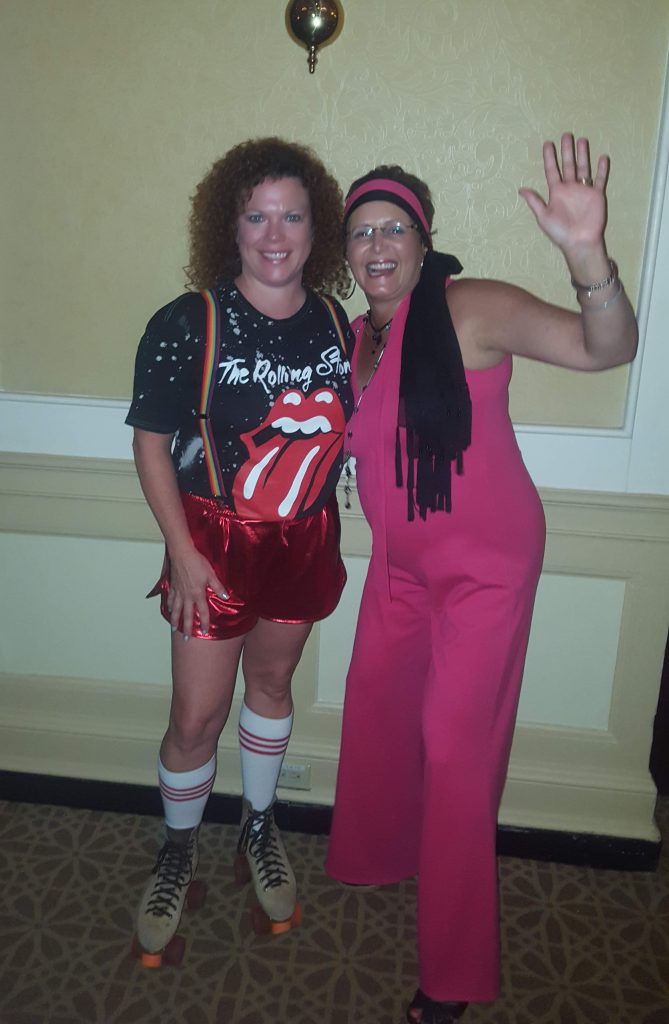Catina Roscoe at the WithIt 80's costume party. I swear it was the skates, but I was lucky enough to win the costume contest. Spending all that time at the Echelon Skating Rink in Voorhees, NJ paid off.