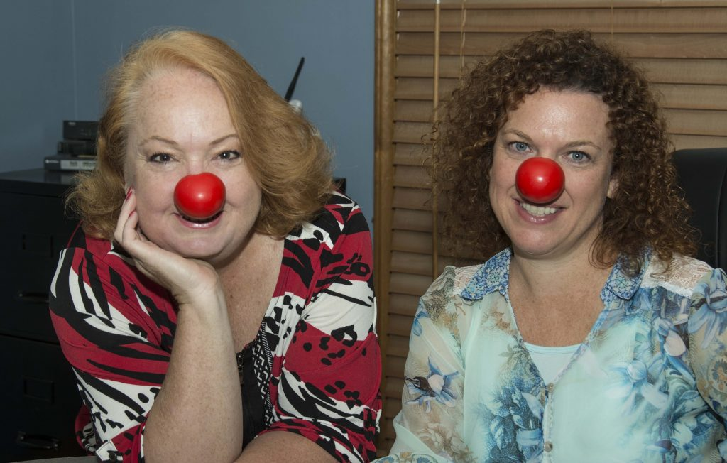 Supporting Red Nose Day whose mission is to  mission to end child poverty; with Kimberley Wray, dear friend and talented industry writer.